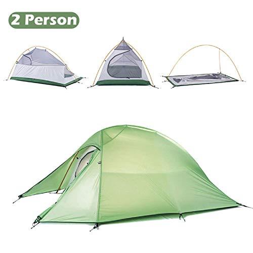 TRIWONDER 1-2-3 Person 4 Saison Camping Zelt Leichte Wasserdichte Doppelschicht Backpacking Zelt für Camping Wandern (Grün - 1-2 Person)
