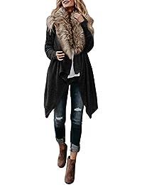 Manteau Femmes Toamen Automne hiver Hauts à manches longues en tricot  Cardigan Pulls Parka Manteau d 4ce0bec92095