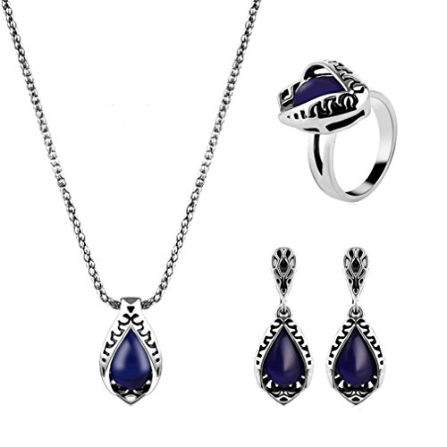 GYJUN Schmuck Halskette / Ohrringe / Ringe Saphir Party / Alltag / Normal 1 Set Damen , 8 (Blauen Saphir-gold-halskette)