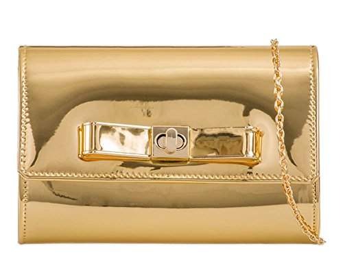 Hautefordiva , Damen Clutch Hologram S gold