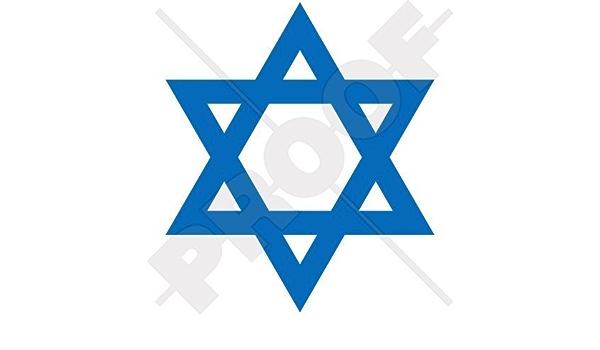 Jüdischer Stern Von David Judentum Israel 115mm Auto Motorrad Aufkleber Vinyl Stickers Wahl Von 22 Farben Garten