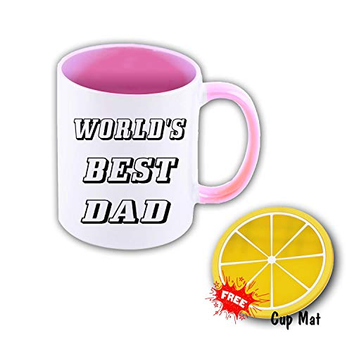 World's Best Dad 11 oz Mug Inside The Color Cup Color Changing Cup, The Best Gift Cup, Birthday Present.Multiple Colors to Choose from