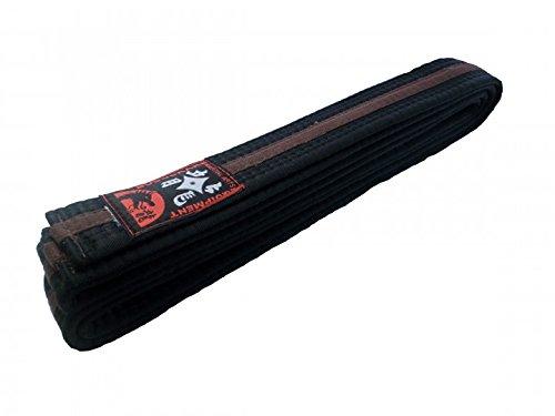 Budogürtel Budodrake, schwarz-braun-schwarz (Mittelstreifen) Karategürtel, Karategurt, Judogürtel, Judogurt, Taekwondo-Gürtel