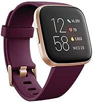 Fitbit Versa 2 Amazon Exclusive – Gesundheits- und Fitness-Smartwatch mit Sprachsteuerung, Schlafindex und Mus