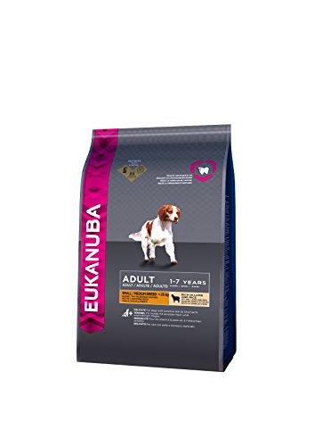 Eukanuba, cibo secco per cani adulti, alimento completo per taglia piccola e media, 1-7 anni, crocchette cani con agnello e riso, 12 kg