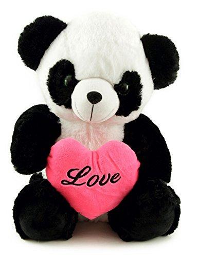 Peluche Love Orsetto Panda 45 cm con Cuore Di Amore