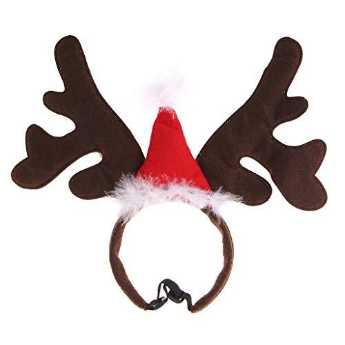 zrshygs Pet Dekoration Weihnachten Pet Stirnband Hirschhorn Hut Kostüm Hund Welpen Katze Cosplay Party Produkt Cosplay Roten Hut