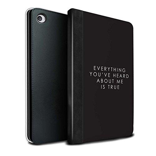 Stuff4® PU-Leder Hülle/Case/Brieftasche für Apple iPad Mini 4 tablet/Lando Zitat Muster/Weltraum-Western-Film Kollektion (Western-leder-handy-fälle)