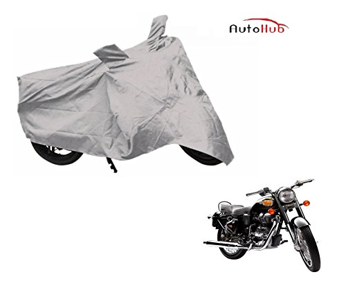 Auto Hub Premium Silver-Matty Bike Body Cover For Royal Enfield Bullet 500  available at amazon for Rs.235