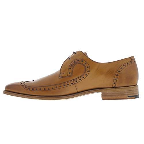 Barker Mens Woody Leather Shoes Marron