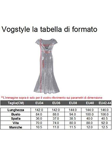 ... Vogstyle Donna Lungo Eleganti Prom Vestito Paillettes Abito Da Sera  Cerimonia Oro.