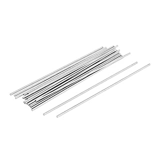 Sourcingmap® 20 Pcs Steel Rod Bar Round Stock Lathe Tools 1.5mm Dia 100mm Length
