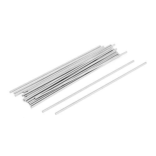Sourcingmap® 20PCS Steel Rod Bar Lager-Tools rund 1,5mm Dia 100mm Länge -