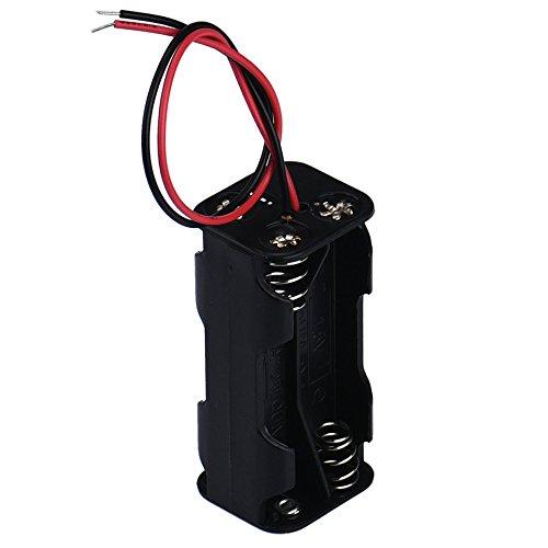 YusellYu_Mädchen Strampler Jumpsuit Yusell Hot 2-Slot 4 x AAA-Batterie Back-to-Back-Halter Fall Aufbewahrungsbox mit Kabel Gold-triple-kabel