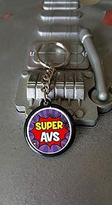 Porte clés 25 mm Super AVS