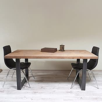 Meubletmoi Table Repas Extensible Style Industriel Structure Metal