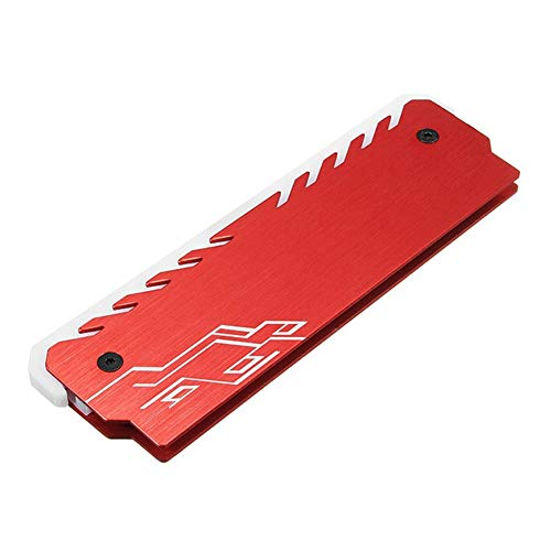 RAM Kühlkörper Memory RA M Kühler - DDR Chipset Kühlweste - Fin Radiation Dissipate - für ASUS Aura Sync, GIGABYTE RGB Fusion und MSI Mystic Light Sync rot -