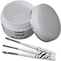 Gel UV de construcción UV transparente 30 ml incluye 3 piezas Conjunto de cepillo