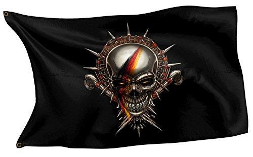 Original RAHMENLOS® Design-Flagge: Deutschland-Fahne Totenkopf German Skull