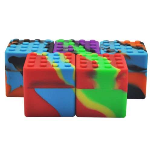 5x antiaderente flessibile food grade silicone cera barattolo contenitore 60* 60MM (Food Grade Cera)
