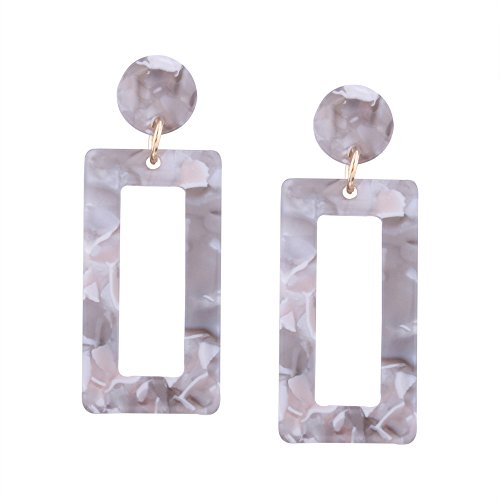 LQQSTORE ☸ Ohrstecker Dame Ohrringe Bohemian Ohrring Schicke Mode Acryl Geometrische Dangle Drop Statement Ohrring Schmuck Ohrringe Ohrschmuck Einfache Earrings Mädchen Hypoallergen Ohrhänger