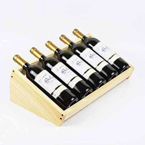 Weinregal Schräg Angeordnetes Solides Holz Mit Weinschrank 480 * 270 * 151mm