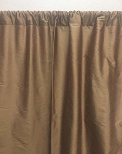 Dupioni Seide (Craftbot Dupioni Vorhang für Fenster oder Tür, Seide, einfarbig, 132 x 213,4 cm, Braun 52x84 braun)
