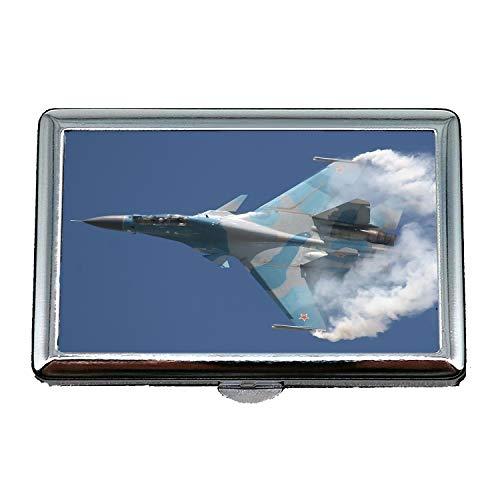 aerei da combattimento, portasigarette, pilota da combattimento, porta biglietti da visita in acciaio inossidabile