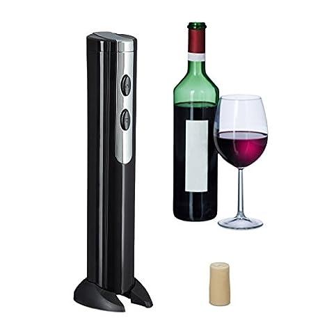 Relaxdays Tire-bouchons électrique ouvre-bouteilles électrique bouteille de vin coupe capsule,