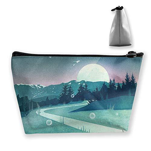 Meerjungfrau Kunst Make-up Tasche Reisetaschen Stift Bleistift Lagerung von Reißverschluss