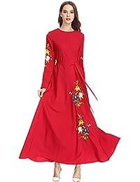 SODIAL Vêtements Islamiques Turcs à La Mode Musulmane Pour Femme Robe  Longue élégante De Broderie De a6c1b8525ee