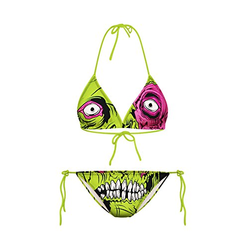 Haodasi Sexy Frauen Grüner Laub Bikini Print Digital Badeanzug (Tiger Bikini Print)