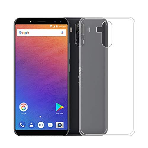 HYMY Hülle für Ulefone Power 3 / Ulefone Power 3s Transparent Case - Schutzhülle Weich TPU Handytasche Handyhülle Durchsichtig Silikon Handyfall für Ulefone Power 3 / Ulefone Power 3s (6.0