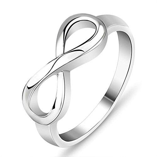 Daesar Silber Ring Frauen Hochzeitsband Silber Unendlichkeit Ring Ewigkeit Ring Größe:54 (2 Kostüme Konzeption In)