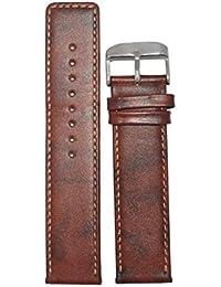 Kolet 24mm Leather Parallel Watch Strap (Tan)