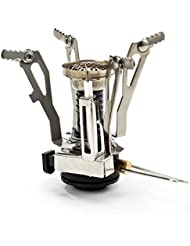 [Estufa de Campamento] Esky® Estufa Ultra Ligera Portátil para Cocinar con Sistema de Piezo de Encendido, Butano Canister Compatible por Esky
