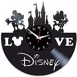 EVEVO Mickey Maus Wanduhr Vinyl Schallplatte Retro-Uhr Handgefertigt Vintage-Geschenk Style Raum Home Dekorationen Tolles Geschenk Wanduh Mickey Maus