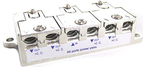 Cablematic - Distribuidor de 4 vías para TV/SAT con conexión rápida