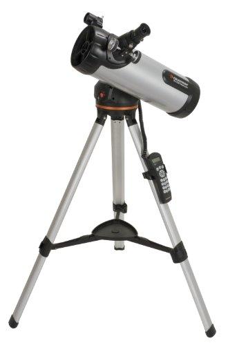 Celestron 31150 LCM - Telescopio refractor, plateado