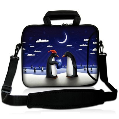 Sidorenko Designer Notebooktaschen in zwei Größen erhältlich 15 Zoll - 15,6 Zoll / 17 Zoll - 17,3 Zoll // mit Tragegurt + Tragegriff inkl. Zusatzfach für Maus und Ladegerät an der Vorderseite der Tasche (Designer-laptop-tasche)