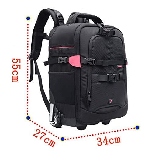 Zaino per fotocamera digitale, borsa da viaggio trolley da viaggio moda multiuso urbana (nero),black