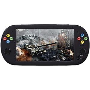 HJL Spielkonsolen mit in den Spielen gebaut, Handheld-Spiele 7,0 Zoll großer Bildschirm eingebauten Simulator Unterstützung TV-Ausgang/Video-Wiedergabe/Lossless Musik