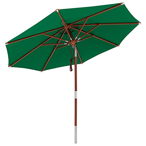 anndora Sonnenschirm Terassenschirm Knicker 3 m rund - UV-Schutz knickbar + Winddach Grün