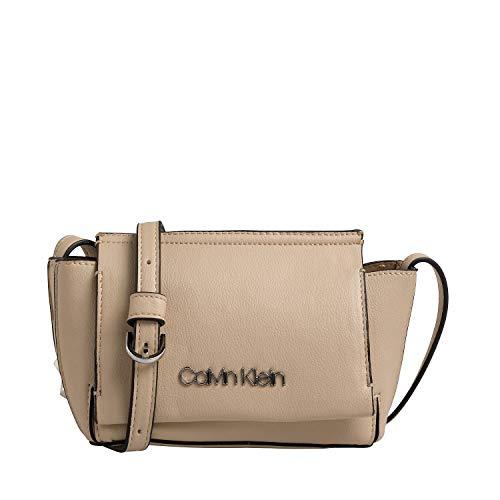 Calvin Klein Handtasche Flap Crossbody Stitch Kunstleder l