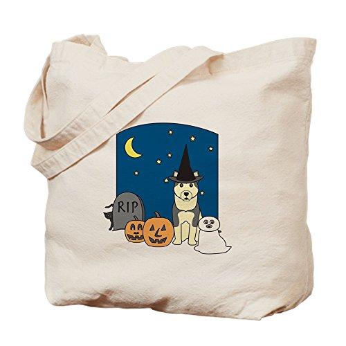 CafePress Malamute Halloween-Tragetasche, canvas, khaki, S