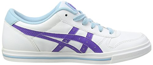 ASICS Aaron Gs, Baskets Basses Mixte Enfant Blanc (white 0132)
