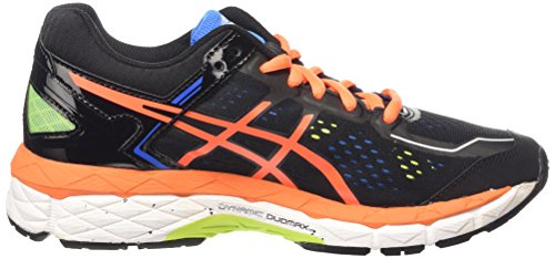 Asics Gel-Kayano 22 Gs, Chaussures de Running Compétition Mixte Enfant Noir (black/hot Orange/electric Blue 9030)
