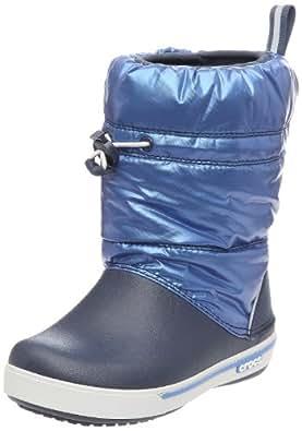 Crocs Crocband Iridescent Gust Boot Kids, Unisex-Kinder Warm gefüttert Gummistiefel Halbschaft Stiefel & Stiefeletten, Blau (Navy/Sea Blue 41A), 22/23 EU