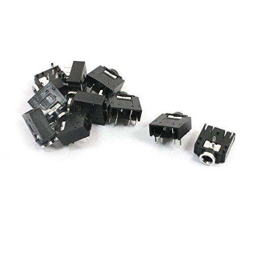 Sourcingmap® 10PCS DIP PCB Montage 5 Pins Buchse 3.5mm Kopfhörer Stereo Audio Jack Anschlu de de Av-pin Jack