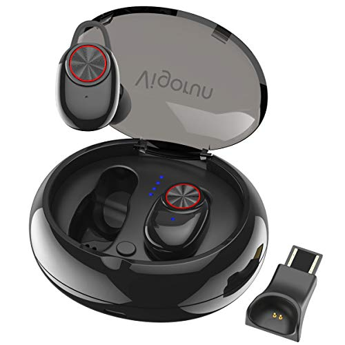 Bluetooth Kopfhörer Vigorun Mini TWS Ohrhörer Kabellos In-Ear Stereo Earphones Sport Headphones Leichte Kopfhörer mit 500mAh Ladebox und Mikrofon IPX5 Wasserdicht für iOS und Android
